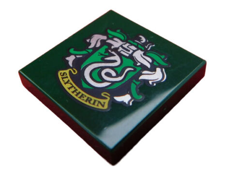 Lego Fliese 2x2 dunkelgrün  SLYTHERIN Banner Logo Harry Potter 3068bpb1258 Neu