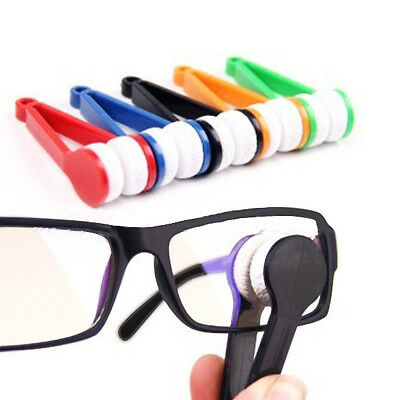 GLASSES CLEANING BRUSH CLOTH MICROFIBRE SPONGE READING  KIT WIPE LENS GADGET