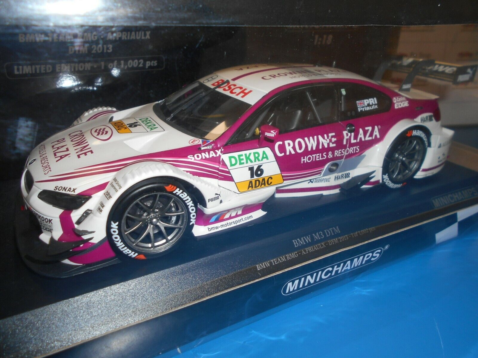 MIN100132216 by MINICHAMPS BMW M3 DTM TEAM RMG  16 PRIAULX 2013 1 18