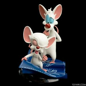 Animaniacs-Pinky-amp-The-Brain-Q-Fig-Warner-Bros-Toons-QMX-Figure-2017-Sealed