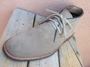 JOHNSTON-MURPHY-Mens-Casual-Dress-Shoes-Natural-Tan-Suede-Chukka-Boot-Size-9-5M