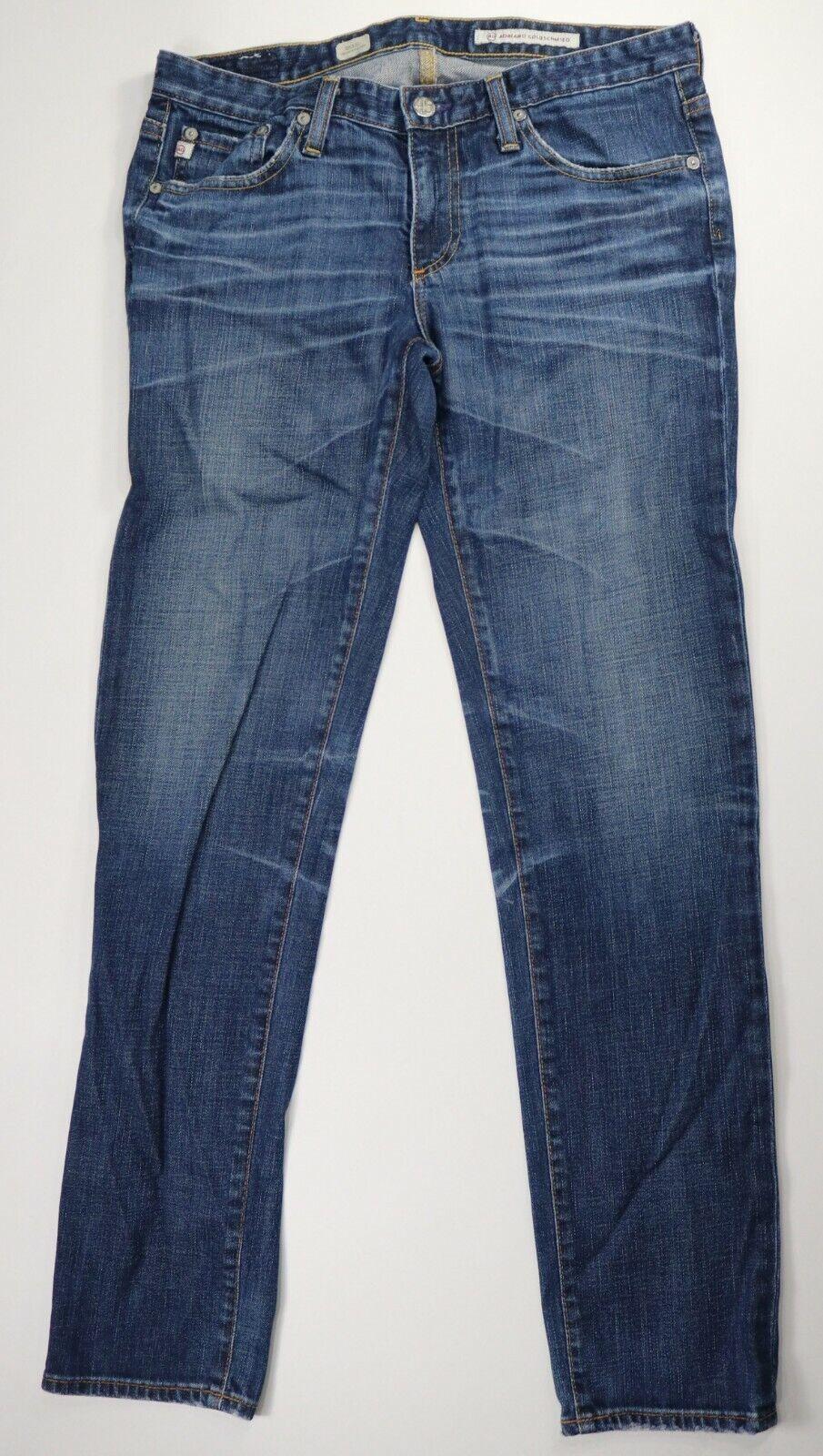 AG Adriano goldschmied bluee Medium Wash Cigarette Leg Jeans Inseam 30