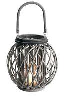 Windlicht Laterne Aus Weide Mit Glaszylinder Kerzenleuchter 31 Cm