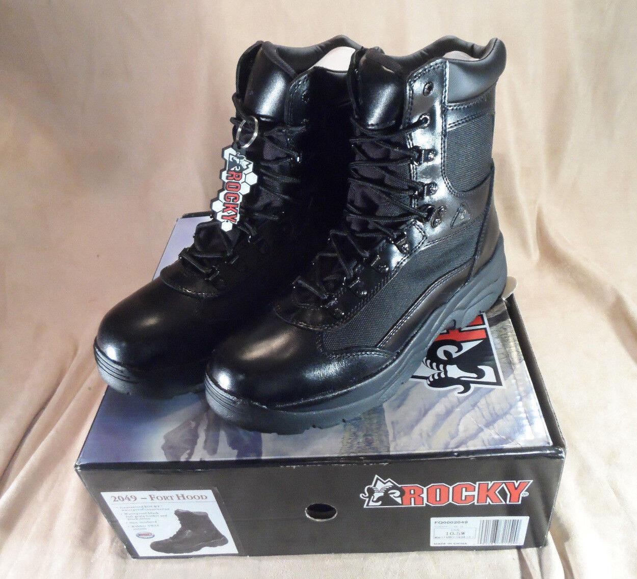 nuevo  Rocky Fort Hood 2049 botas Impermeables de 8  -- 10.5 de ancho de cuero para hombres -- Nylon