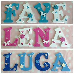 Children-Baby-Name-Door-Wooden-Letter-Bedroom-Nursery-Wall-Boys-Girls-Any-Theme