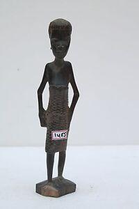 Vintage-African-Hand-Carved-Folk-Art-Sculpture-Figures-Black-Memorabilia-NH1405