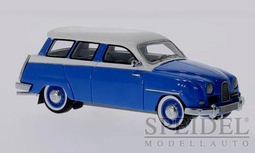 Wonderful modelcar SAAB 95 WAGON 1958  - blu bianca  - scale  1 43 - ltd. Ed.700