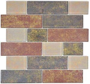 Glasmosaik-braun-Fliesenspiegel-Kueche-Wandverkleidung-Bad-68-1379L-10-Matten