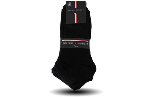 12Paar Herren Sneaker Socken mit Elasthan schwarz 39//42