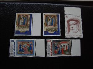 Vatican-Stamp-Yvert-and-Tellier-N-1025-x2-1029-1030-1037-N-A6-Stamp
