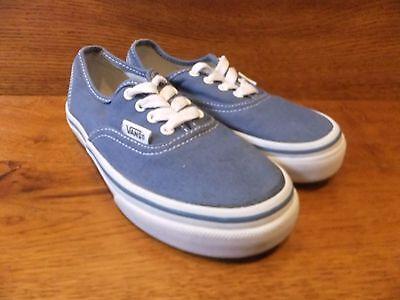 Vans auténticas azul Zapatillas De Lona Talla 30 UK 12K UE
