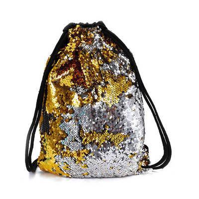 1x Reversible Sequin Glitter Outdoor Shoulder Bag Sports Backpack Women Xmas Bag