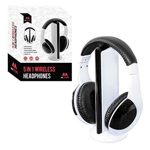Mi Stuff 5in1 Wireless Headphones Head Phones Function Wireless Headphone WHITE