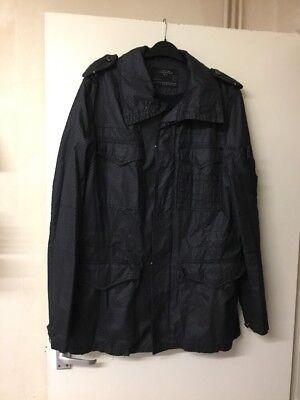 """""""allsaints's Nero"""" Bracken """"jacket-taglia M-mostra Il Titolo Originale"""
