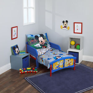 Details about Disney Mickey Mouse Having fun 4 piece Toddler Bedding - See  details