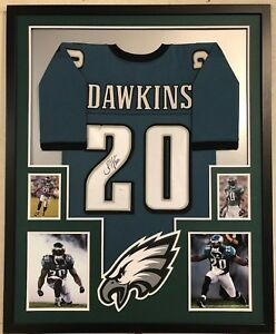 check out 2c1c3 543cf Details about FRAMED PHILADELPHIA EAGLES BRIAN DAWKINS AUTOGRAPHED SIGNED  JERSEY JSA COA