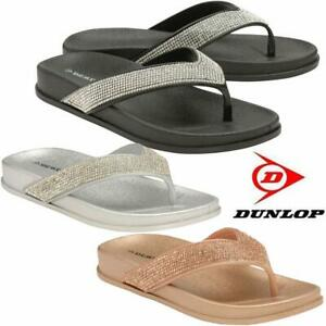 Ladies-Low-Wedge-Heel-Comfort-Walking-Flip-Flops-Fitness-Cushioned-Sandals-Shoes