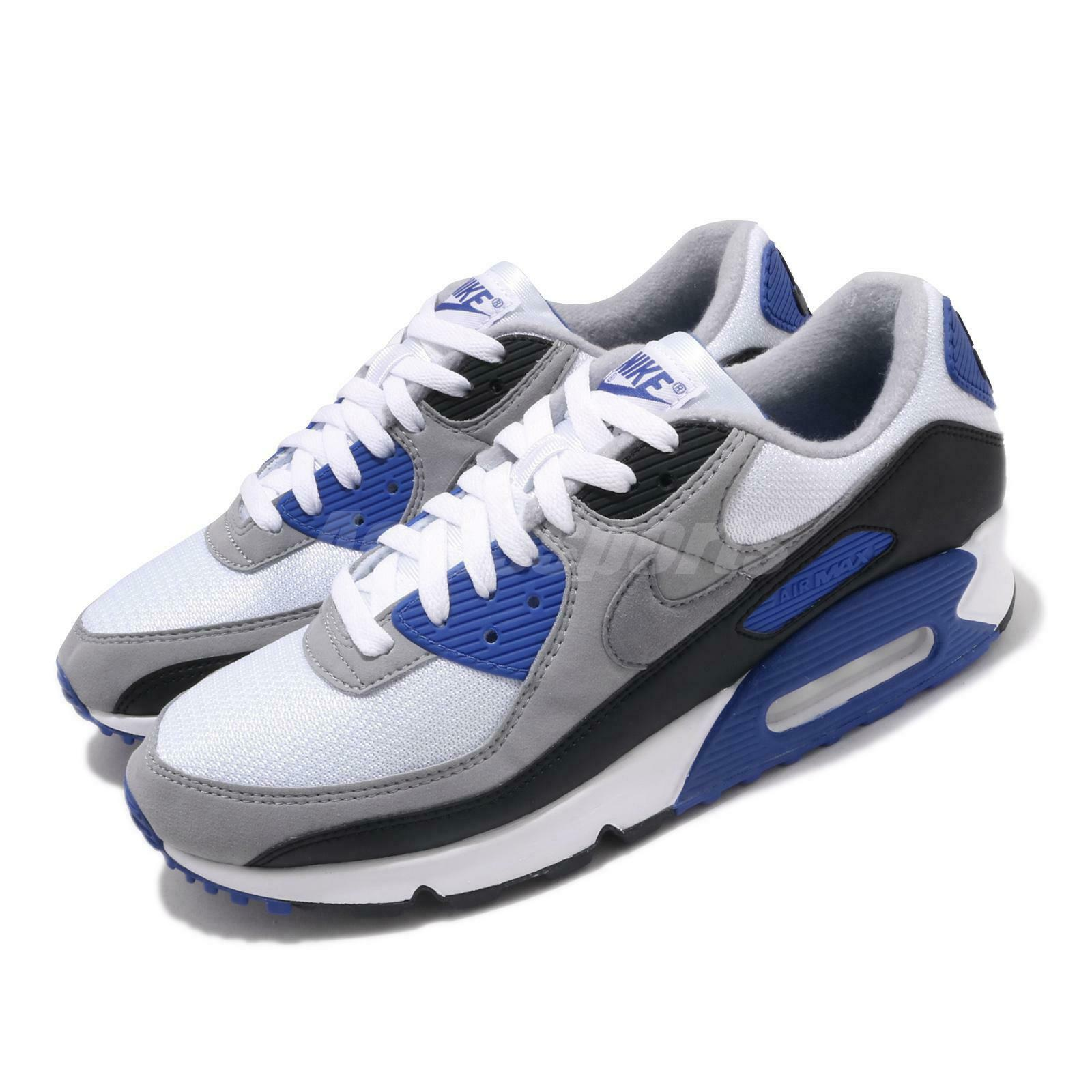 Nike Air Max 90 White Anthracite Obsidian Soar Blue 325018 050 Us