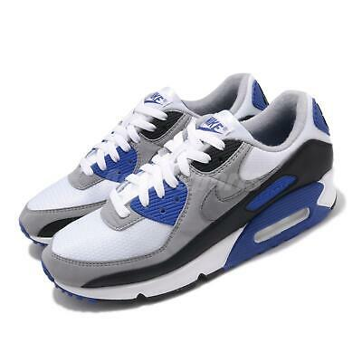 Nike Air Max 90 Essential 537384 104 Classic Gray Royal Blue