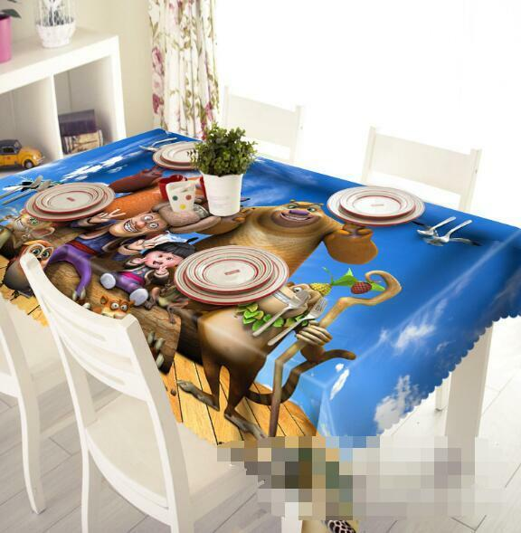 3D Funny Animals Tablecloth Table Cover Cloth Birthday Party Event AJ WALLPAPER
