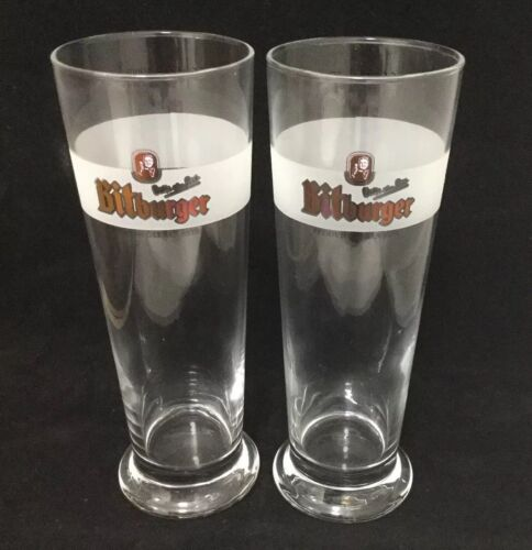 Pair Of New Bitburger Beer Pint Glasses