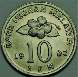 Malaysia 1993 10 Sen Gem Unc~Ceremonial Table~Free Shipping