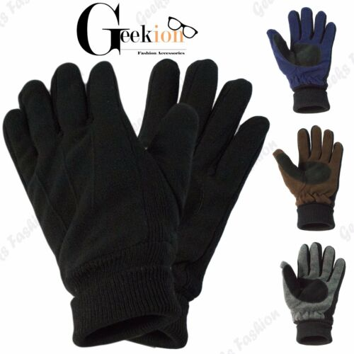 Mens Womens Winter Warm Thermal Working Driving Insulation Knit One Size Gloves