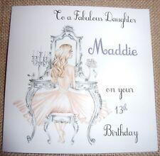 Item 2 Personalised Teenage Girls Birthday Card Daughter Niece Sister 13 14 15 16 17 18