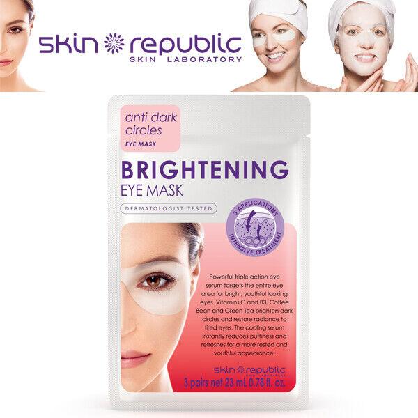 Skin Republic Brightening Eye Mask Anti Dark Circles Intensive Treatment 3 Pairs