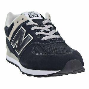 New-Balance-574-Core-Big-Kid-039-s-Shoes-Black-Grey-GC574-GK