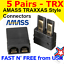 5 Pair Amass TRAXXAS TRX-style Connector Plugs for Lipo//NiMh Battery