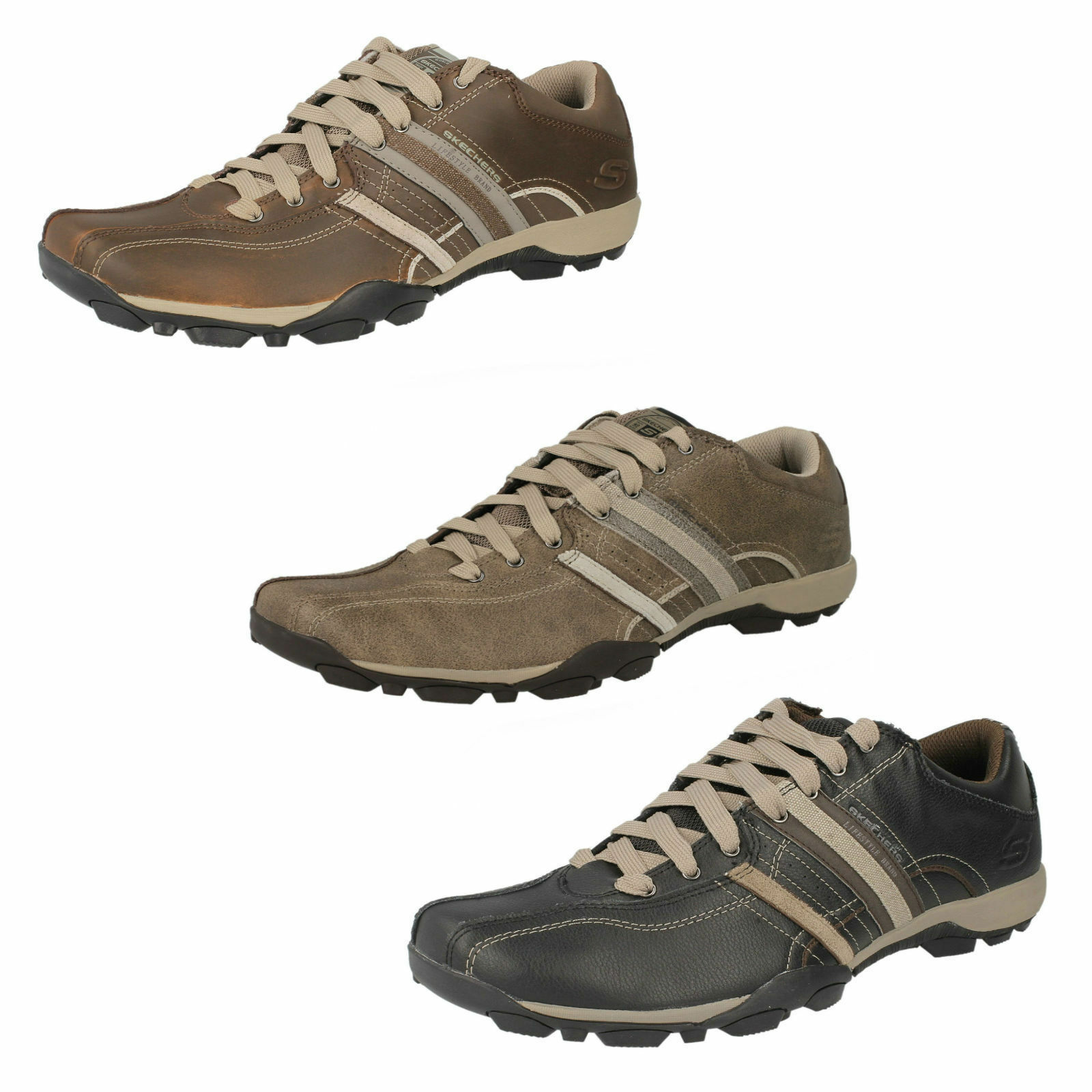 MEN'S SKECHERS SPORT LACE UP TRAINERS Price reduction STYLE REFRESH