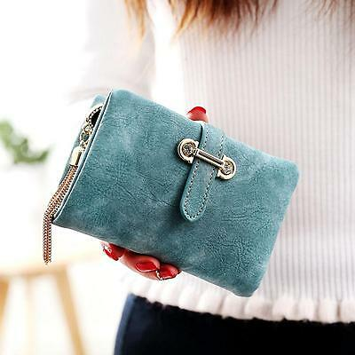 Women Fashion Leather Small Wallet Zipper Bag Card Holder Short Purse Clutch New