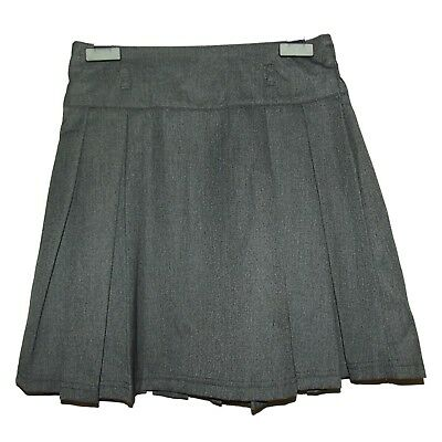 FAB NEW GIRLS EX M /& S NAVY PLEATED ELASTICATED BACK SCHOOL SKIRT AGE 4-12 H