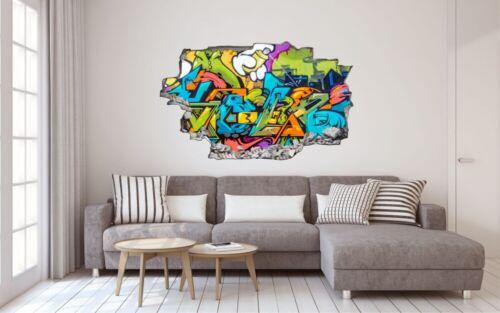 Graffiti Wall Street Art Tag Wandtattoo Wandsticker Wandaufkleber C1612