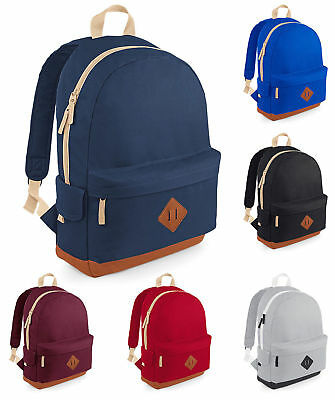 Bagbase Heritage Laptop Backpack Burgundy O//s