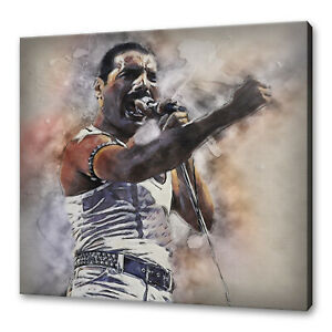 QUEEN FREDDIE MERCURY CANVAS PICTURE PRINT WALL ART FREE DELIVERY