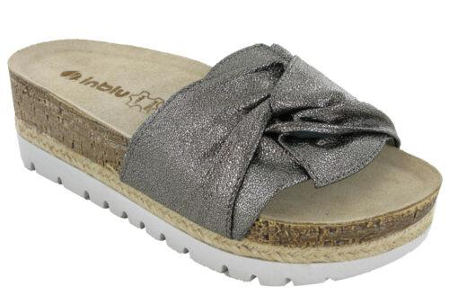 Details about  /Womens Platform Sandals Padded Leather Inblu Insock Soft Strap Open Toe UK 2.5-8