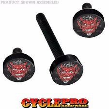 Black Billet Fairing Windshield Hardware 14-Up Harley Touring 1% ER Red Devil