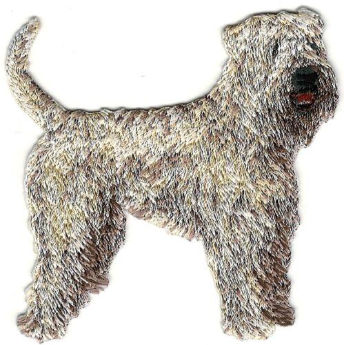"2 3//4/"" x 3/"" Irish Soft Coated Wheaten Dog Breed Body Embroidery Patch"