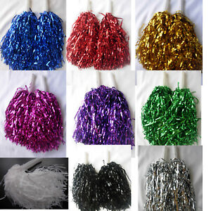 1 Pair Cheerleader Pompoms Hen party Fancy Dress Pom Pom Accessory Dance
