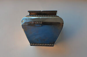 MAGNIFICENT ANTIQUE ENGLISH SOLID STERLING SILVER TEA CADDY, MAKER: GB & E
