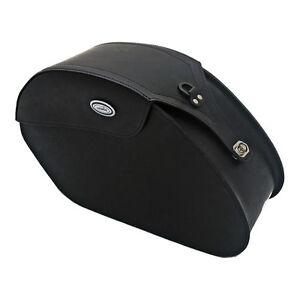 Ledrie-Satteltaschen-schwarz-Leder-verstaerkt-18-Liter-f-Harley-Davidson