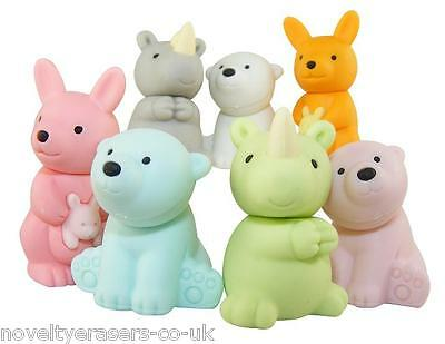 Novelty Eraser/Rubber - Iwako Wild Animal Collection - Available in 7 Variations