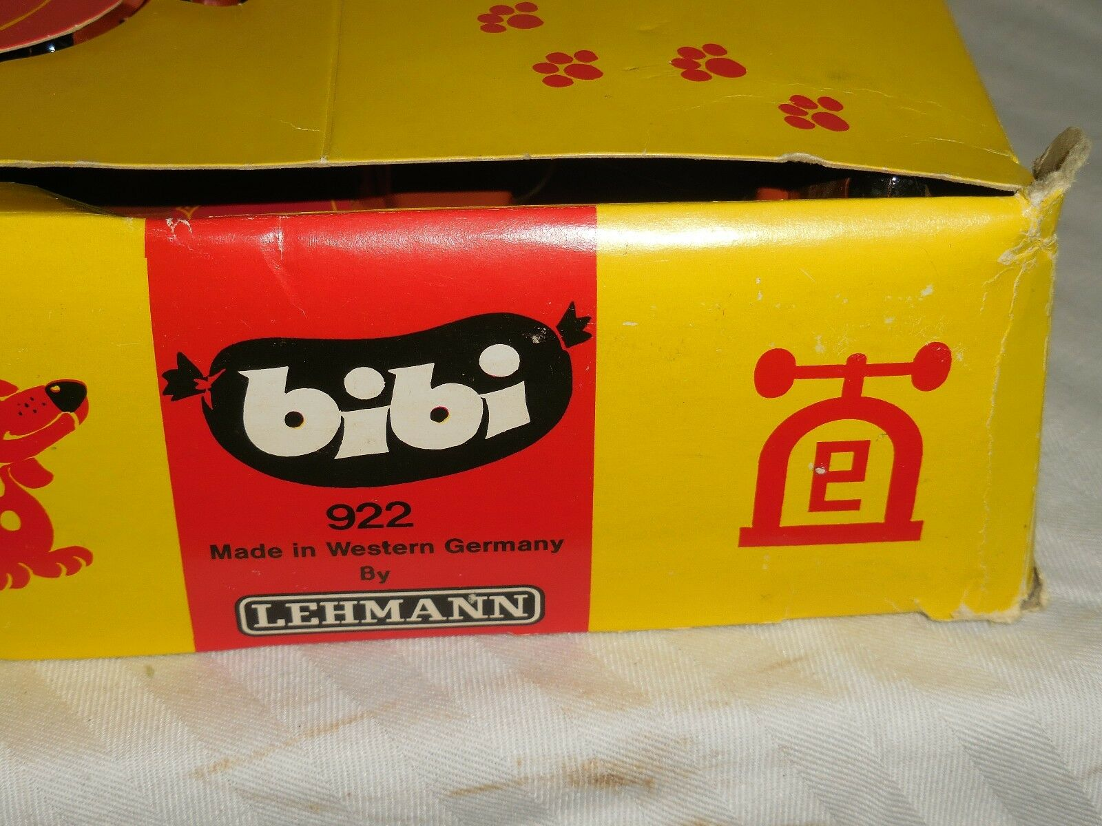 Vintage Bibi Red Dog Lehmann Friction W Germany 12 Toys Toys Toys in Original Box 4999f4