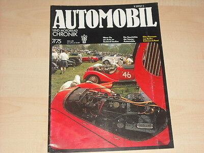 P0213) Saurer Lkw - Dkw Roadster - Automobil Chronik 07/1975 Auswahlmaterialien