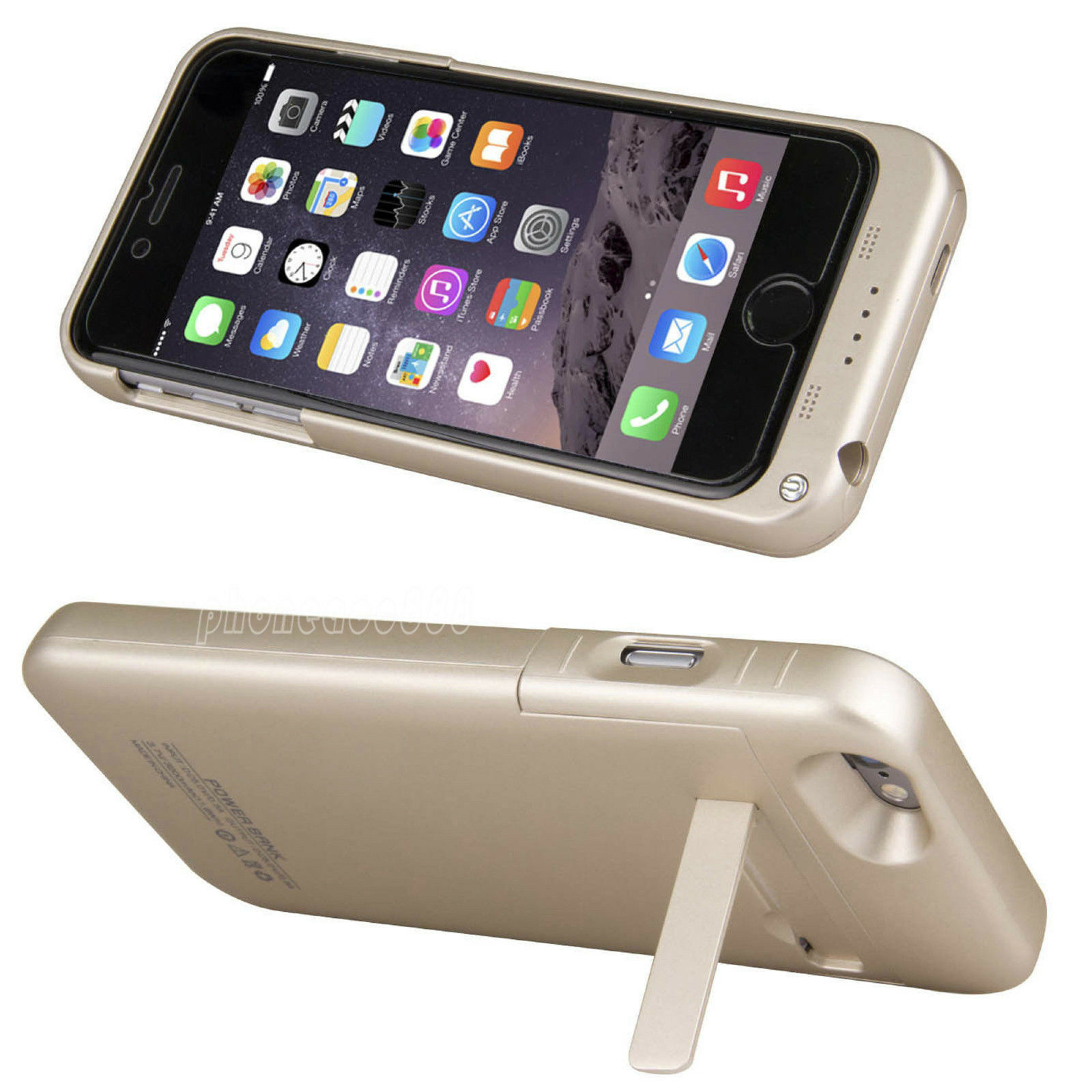 External Power Bank Backup Charger Battery Case Cover For Apple iPhone 6 6S Plus | eBay