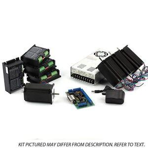 NEMA23-4-Axis-CNC-Kit-48V-12-5A-570oz-in-KL-5056-110V-220VAC