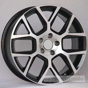 laguna style black machine wheels rims fits vw volkswagen gti golf  gli ebay