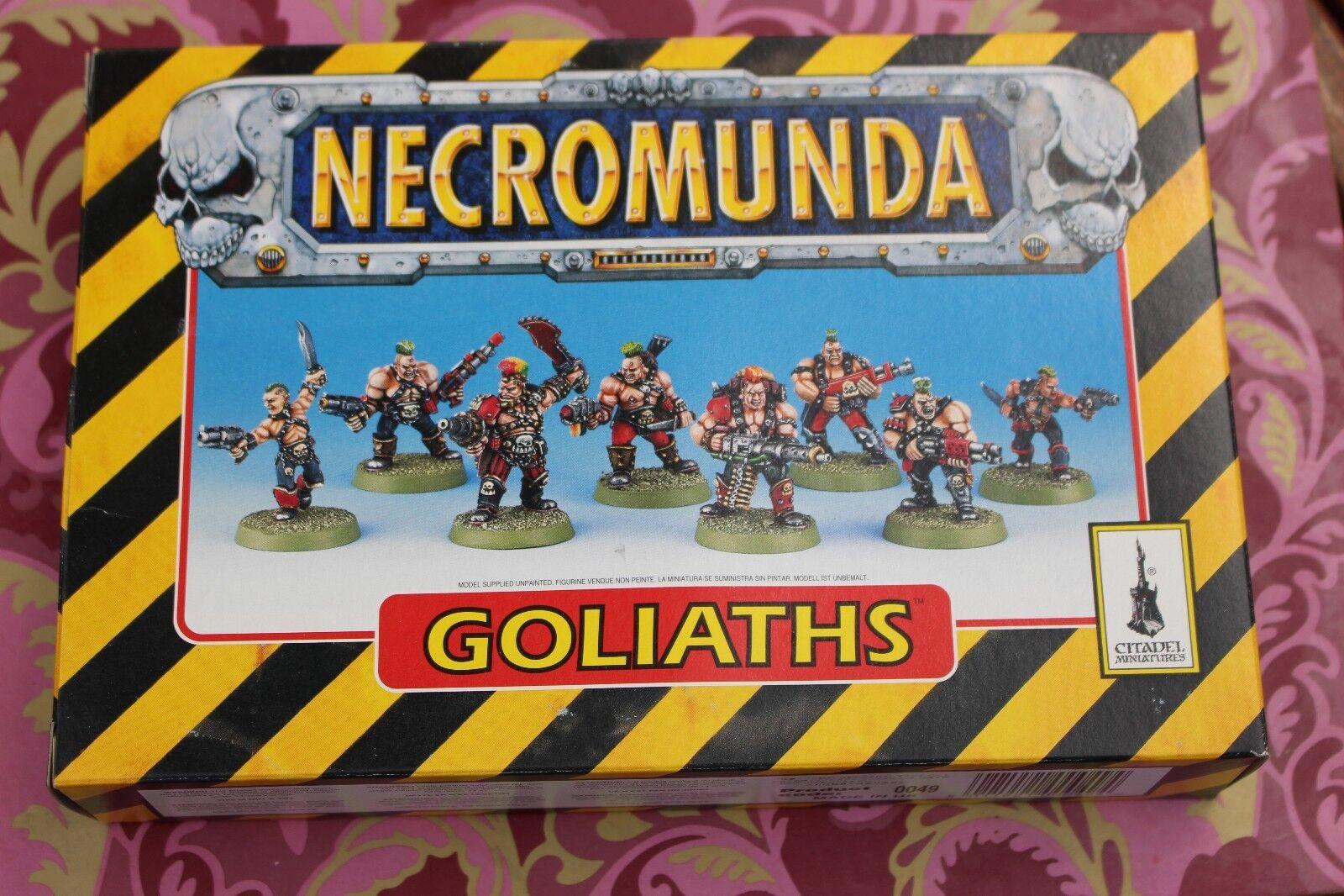 Games Workshop Warhammer 40k Necromunda Goliaths Gang WH40K Metal Extras Boxed